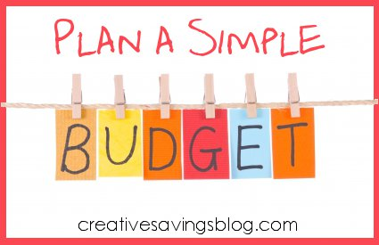 Plan a Simple Budget Organize Your Receipts Creative Savings – Simple Budget
