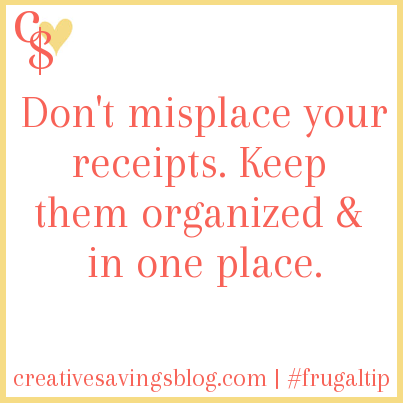 Keep Receipts Organized