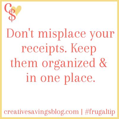 Keep Receipts Organized