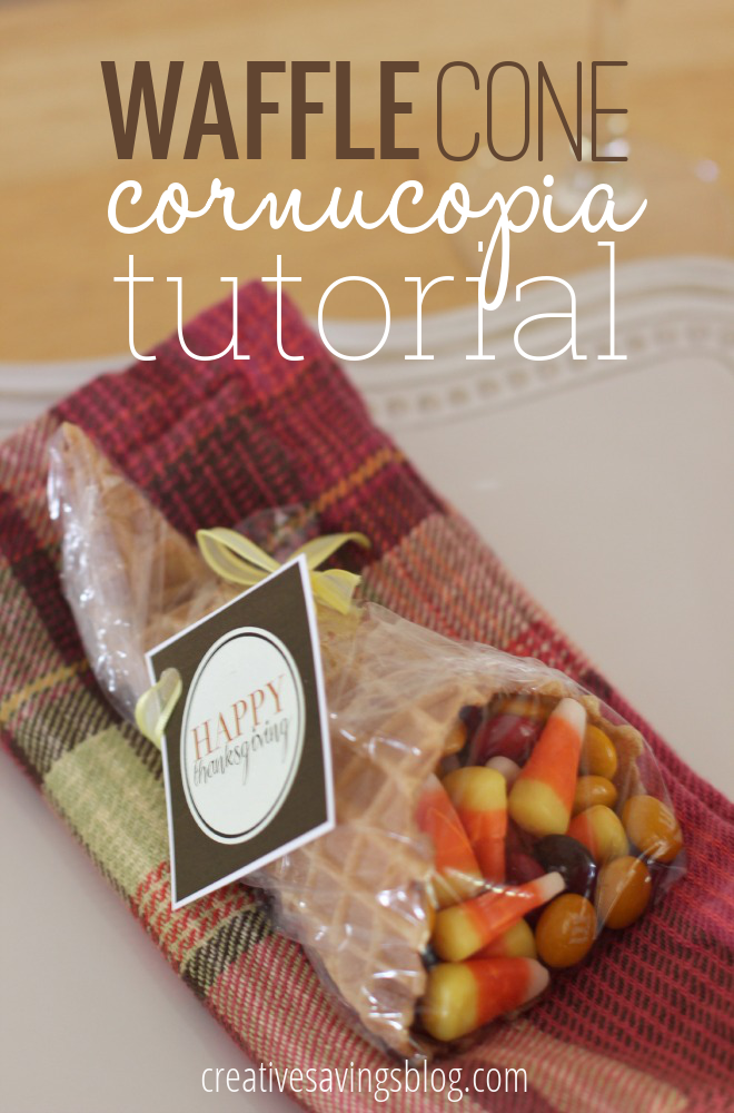 I've been trying to come up with a way to make this year`s Thanksgiving an extra memorable one, and I've finally found it with the most adorable waffle cone cornucopia favors! This tutorial teaches you how to create a Holiday treat my new little neices and nephews will love!! They're almost too cute to eat! #waffleconecornucopiatutorial #waffleconecornucopia #thanksgivingcraft #thanksgivingdayactivity