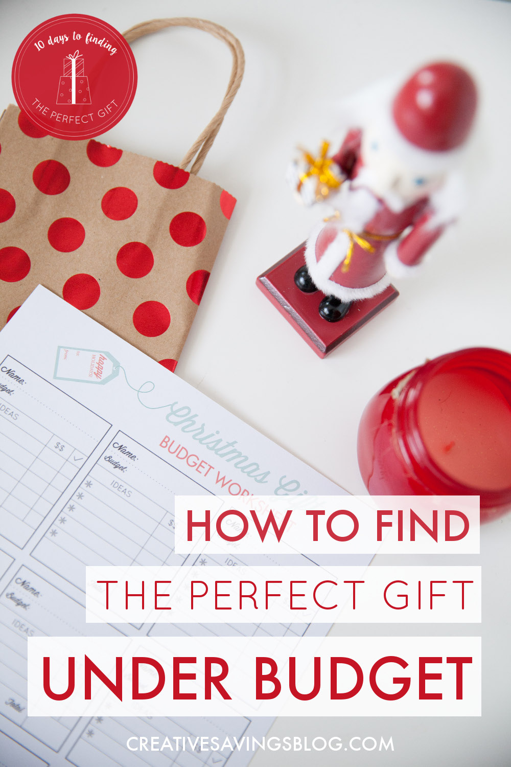 Find Gifts Under Budget | Christmas List Ideas Printable
