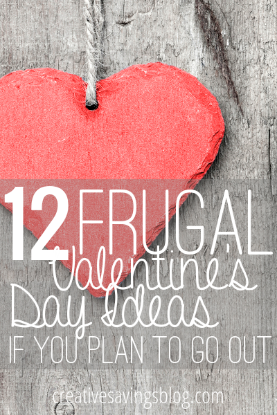 Want to go out for Valentine's Day, but don't have a lot of cash? Here are 12 thrifty Valentine activities that are creative and fun!