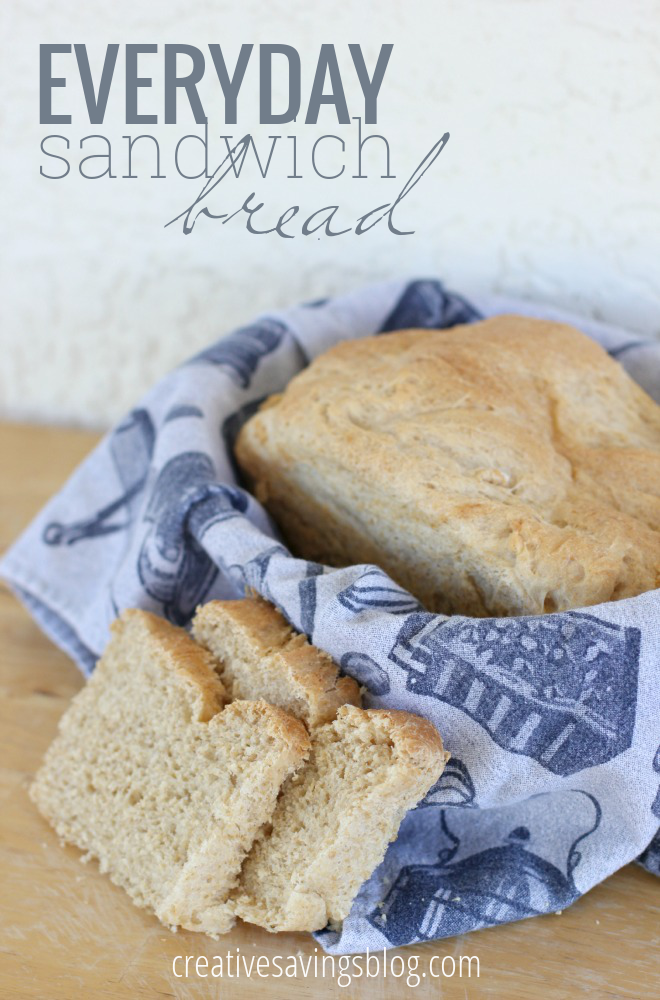 This basic sandwich bread recipe is soft, fairly healthy, and freezes really well. It's not that hard to make either!