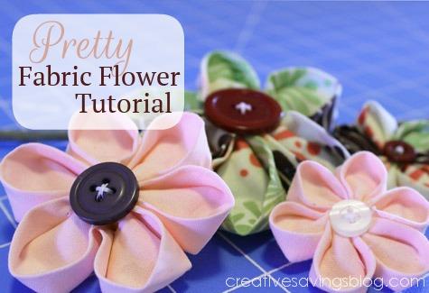 Pretty Fabric Flower Tutorial {For Hair, Bags, Home Decor, & More!}
