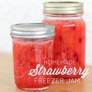 My Favorite Homemade Strawberry Freezer Jam