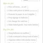 FREE Garage Sale Checklist