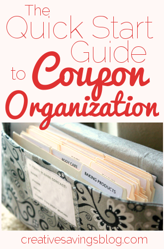 The Quick Start Guide to Coupon Organization
