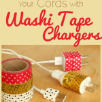 Organize Your Cords with Washi Tape Chargers
