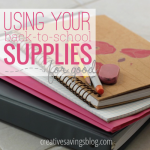 Using Your Back-to-School Supplies for Good