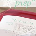 Freezer Cooking Prep