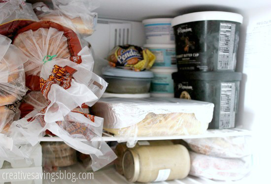 Clear out the freezer