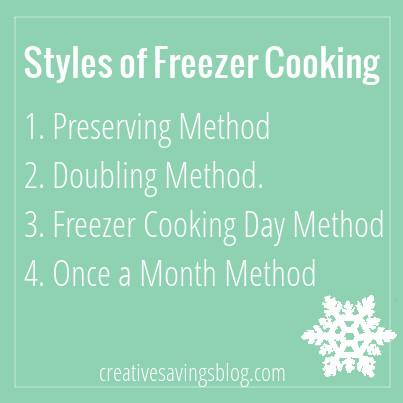 4 Freezer Cooking Methods