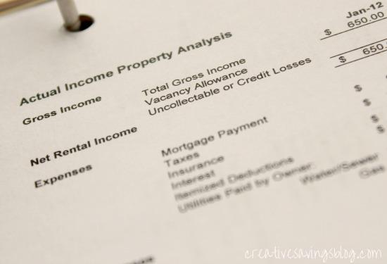 Rental Profit/Loss Statement