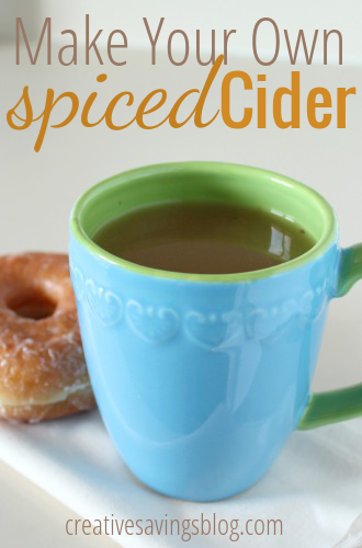 Skip the drive-thru and make your own spiced cider at home. Just a few ingredients leave your kitchen smelling like Fall!
