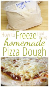 How to Freeze {and Thaw} Homemade Pizza Dough