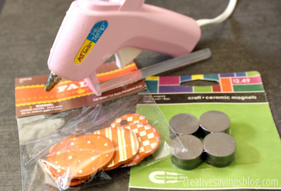 Supplies for Pumpkin Magnets | Creative Savings