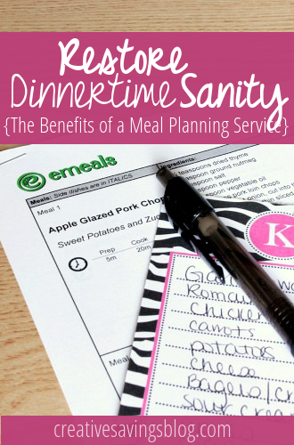 How can a meal planning service help you save time and money? For less than $5/month you can receive weekly meal plans matched with store sales, right in your inbox!