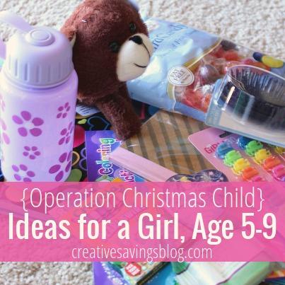 {Operation Christmas Child} Ideas for a Girl, Age 5-9 | Creative Savings