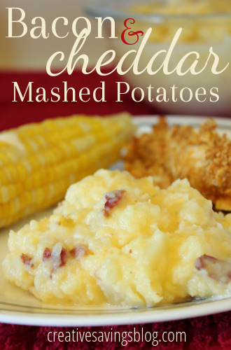 Bacon cheddar mashed potatoes are a must at Thanksgiving, and this recipe gives the average potato a gourmet upgrade!