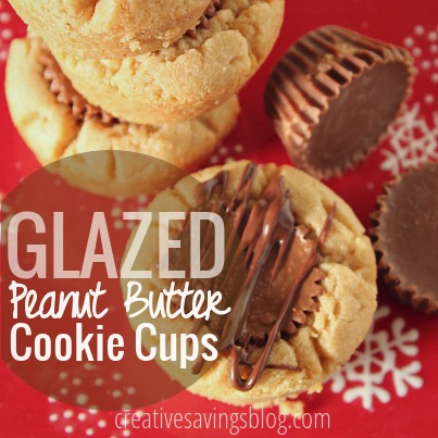 These peanut butter cookie cups look like you spent hours making them, but come together SO quickly! Perfect for a Holiday cookie plate!
