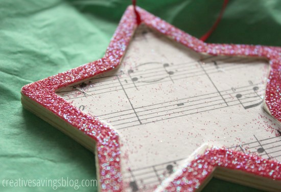 Glitter Music Ornaments | Creative Savings