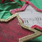DIY Glitter Music Ornaments