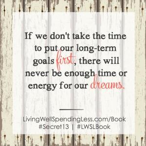 Make your dreams a priority!