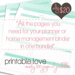 For the Love of Printables: 12 Planner Kits to Help Organize Your Home