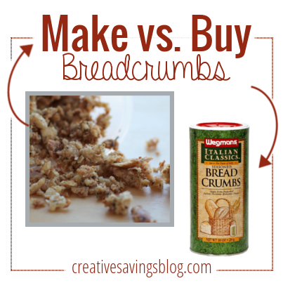 Which is cheaper? Homemade breadcrumbs or store-bought? Find out which one you should use as a pantry staple!