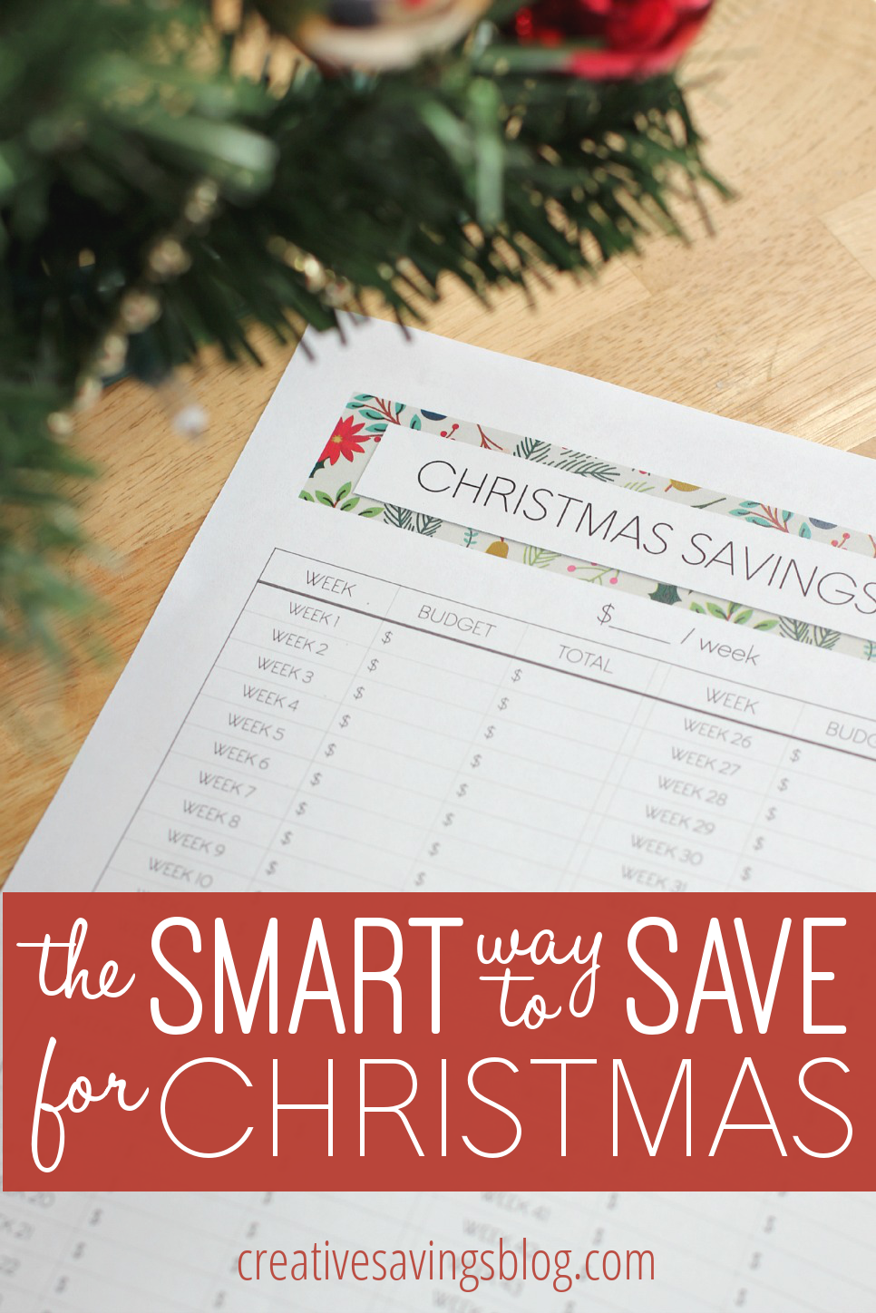 Discover the smart way to save for Christmas with this simple worksheet and never worry about over-paying for gifts again!