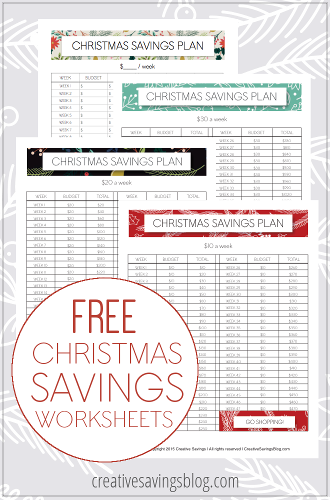 Did you spend WAY more than your budget could handle over the Holidays? Discover the smart way to save for Christmas with these free printable worksheets, and never get caught off-guard with unexpected expenses again!