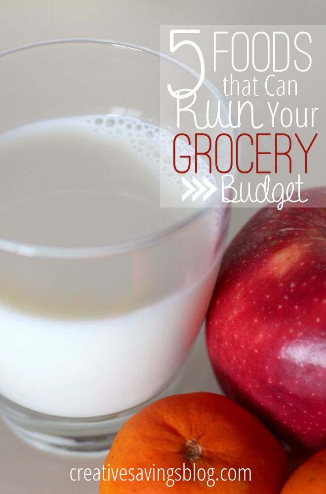 Is your grocery budget out of control? Here's how to pinpoint which foods are ruining your budget, and ways to save money on each!