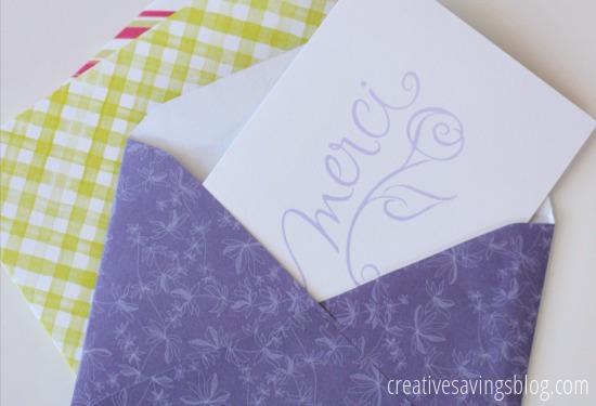 DIY Paper Envelopes | Creative Savings