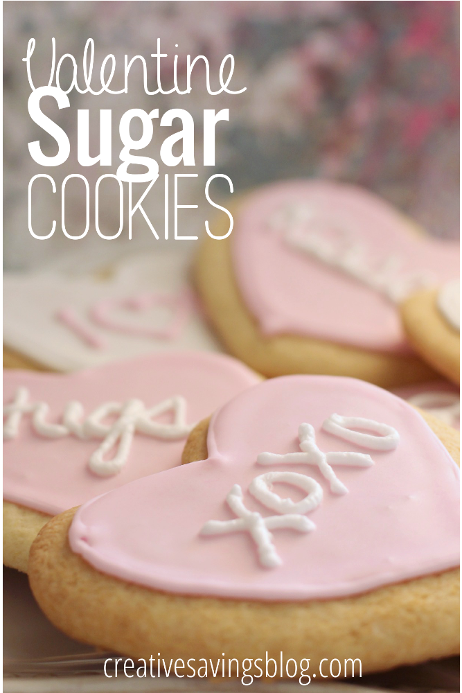 Just the Valentine's day treat/craft I've been looking for! These super adorable Valentine Sugar Cookies are so fun to make, and the kids adored them, they've asked to make them when it's not Valentine's Day! #valentinesday #valentinesdaycookies #valentinescookies #sugarcookies #sugarcookierecipe