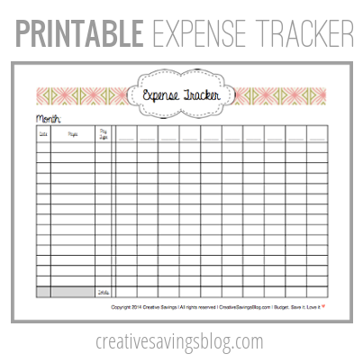 This printable makes tracking your expenses SO easy! Also includes link to an Excel file.