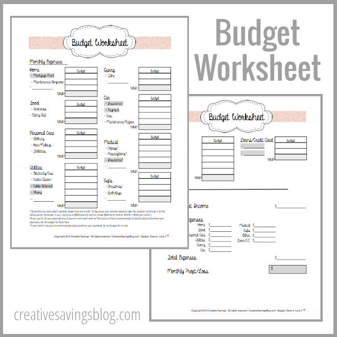 Worksheets Making A Budget Worksheet build a budget worksheet