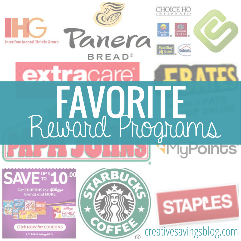 With so many reward programs out there, it's hard to know which one to try first. This list is Creative Savings approved, and is a great place to start!