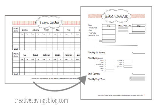 Use your Income Tracker to fill in the monthly profit/loss section of the Budget Worksheet.