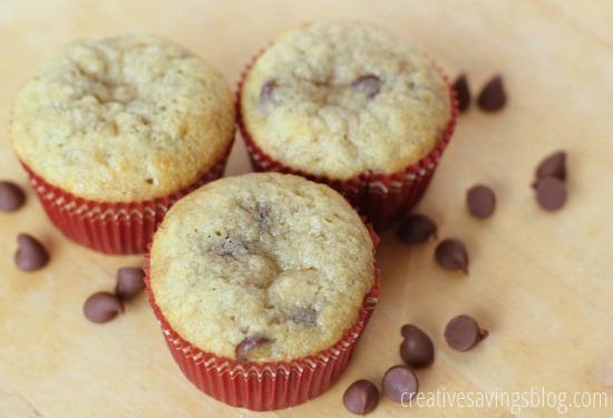 Banana Chocolate Chip Muffins | Creative Savings