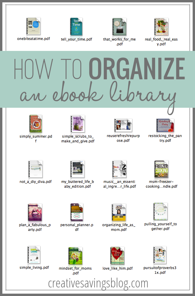 How to organize an ebook library kalyn brooke dont let ebooks clutter up your hard drive heres how to organize a fandeluxe Document