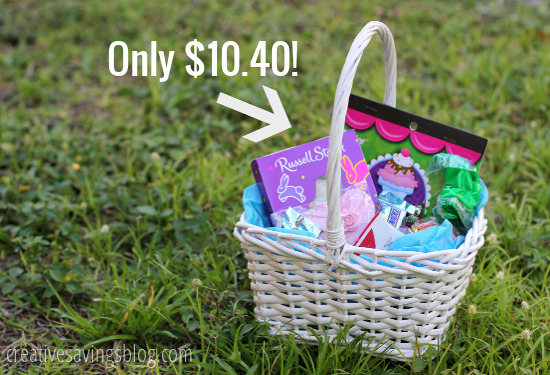 How much does an Easter basket really cost? You can totally recreate one on a budget, and this one costs less than $11.00!