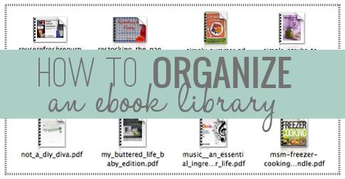 How to organize an ebook library creative savings