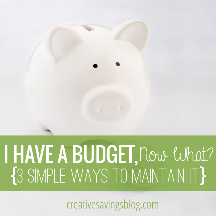Have a budget, but aren't quite sure where to go next? Follow these 3 simple maintenance tips to stay on track and reach all of your savings goals! #budgetingforbeginners #budgeting #budgeting101 #stayingunderbudget