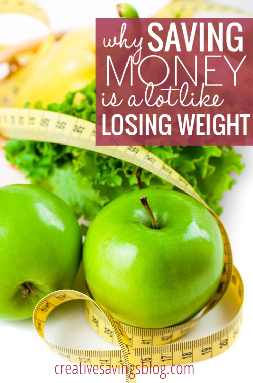 These 3 comparisons between saving money & losing weight give you the secret to maintain a healthy lifestyle - physically, AND financially! #loseweight #savemoney #newhabits #slowandsteady #lifechange