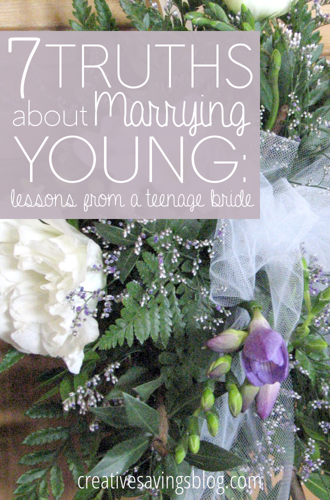 """When is someone """"too young"""" to get married? One girl's perspective as a teenage bride shows you how marrying young CAN beat the odds!"""