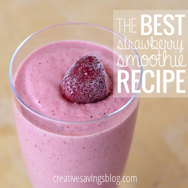 The Best Strawberry Smoothie Recipe