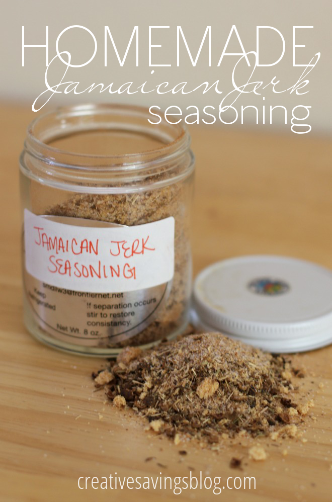 This homemade Jamaican Jerk Seasoning is not only incredibly delicious on meat, it's also super easy {and frugal} to put together!