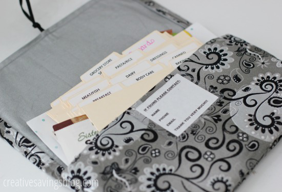 Coupon Organizer from Glowgirl Fibers