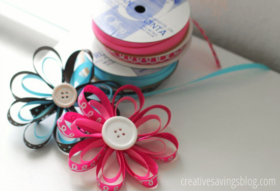 DIY Flower Hair Bows | Creative Savings
