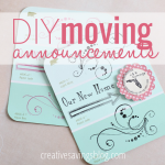 These DIY moving announcements are super easy to make and a great way to let friends and family know about your new place!